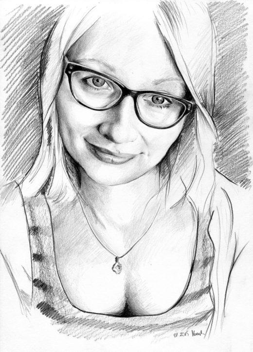 Portret rysunek ołówek