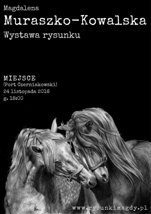 Plakat z informacją o wystawie