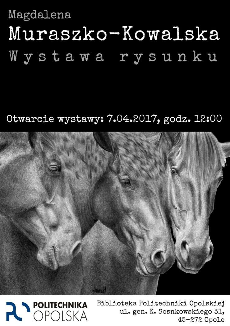 Plakat informacyjny o wystawie w Opolu.