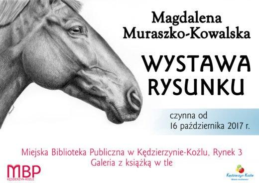 Plakat informujący o wystawie w Kędzierzynie-Koźlu.