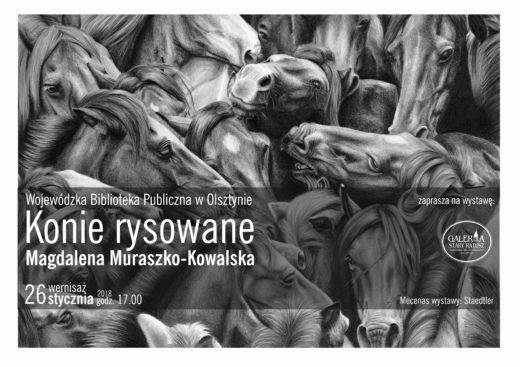 Plakat informujący o wystawie w Galerii Stary Ratusz w Olsztynie.