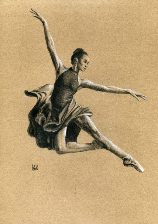 Rysunek baleriny.