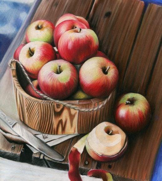 Jesienne jabłka.