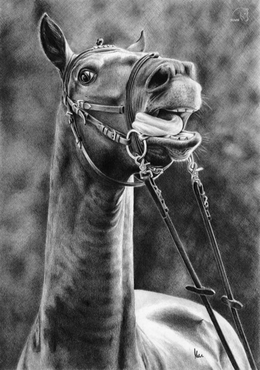 Rysunek krzyczącego konia.